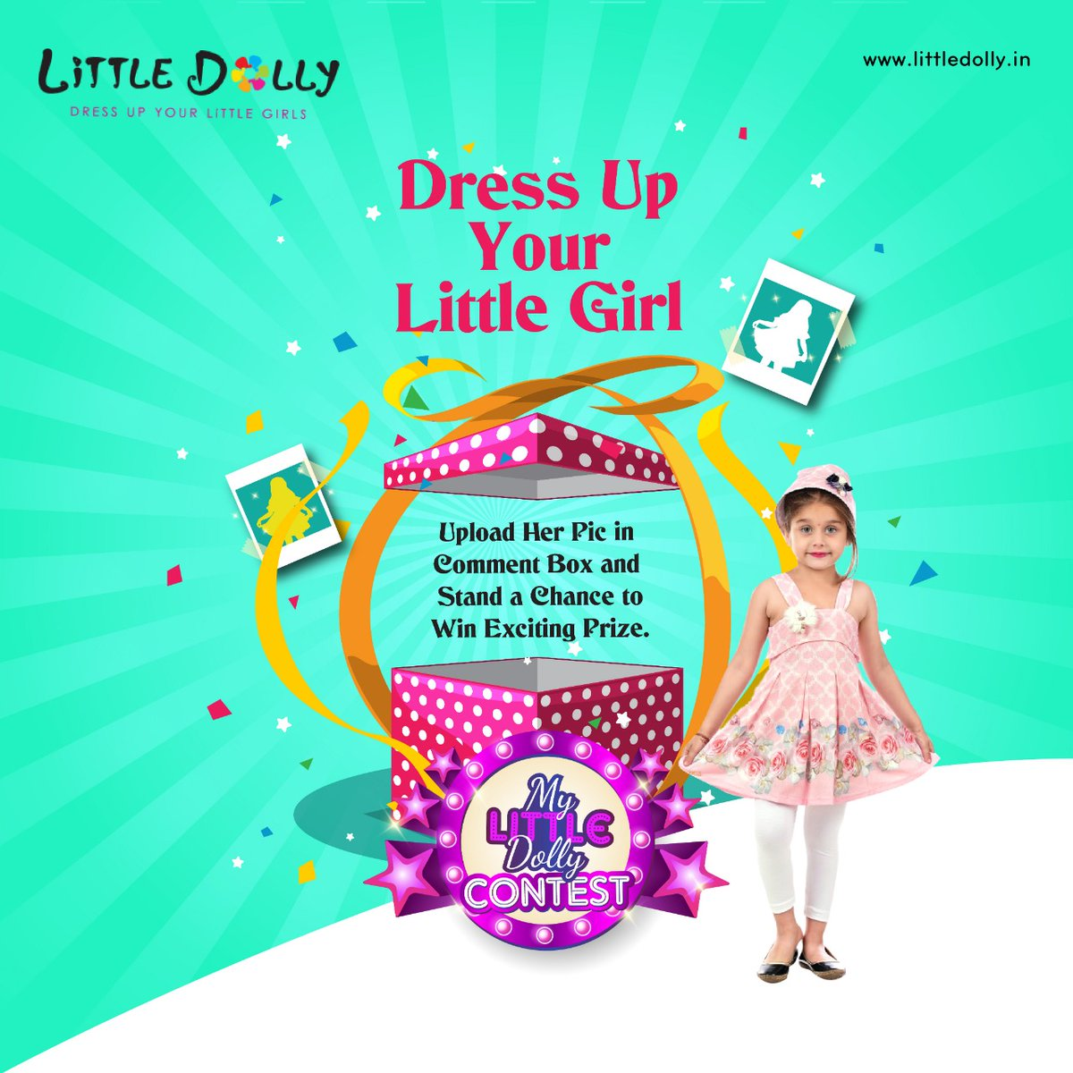My Little Dolly Contest Dress Up Your Little Girl, Upload Her Pic in Comment Box and Stand a Chance to Win Exciting Prize. *For 1-5 year old girl child  *Follow us on FB, Insta & Twitter *Last date 5 Mar 2020 #littledolly #contest #contestalert #girlsfashion #girlswear #kidswear