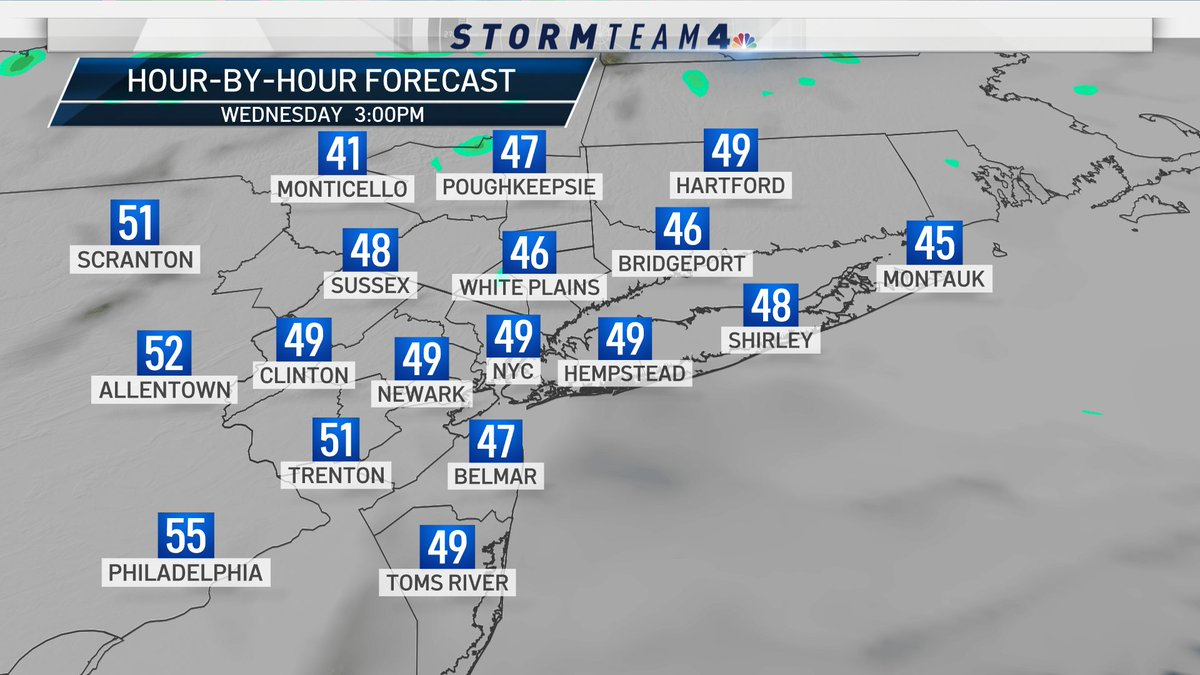 Some drizzle and fog expected on Wednesday, but heavier rain returns late Wednesday night. Find out when it the sunshine is back and temps cool down at  or the free NBC4NY mobile app. #NBC4NY #ctwx #njwx #nywx #nyc