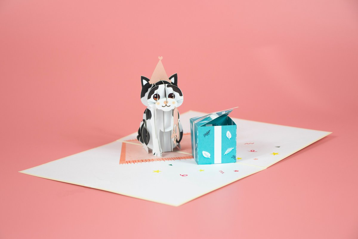 🎁🎁🎁 Cat birthday gift pop up card #popup #love #quotes #littlethings #grad #wise #mighty #popupcard #popupshop #photooftheday #animal #gift #floral #birthday #cat #love #card #summer #cards #holiday #postcrossing #papercraft #postcard #holiday #charmpopcards