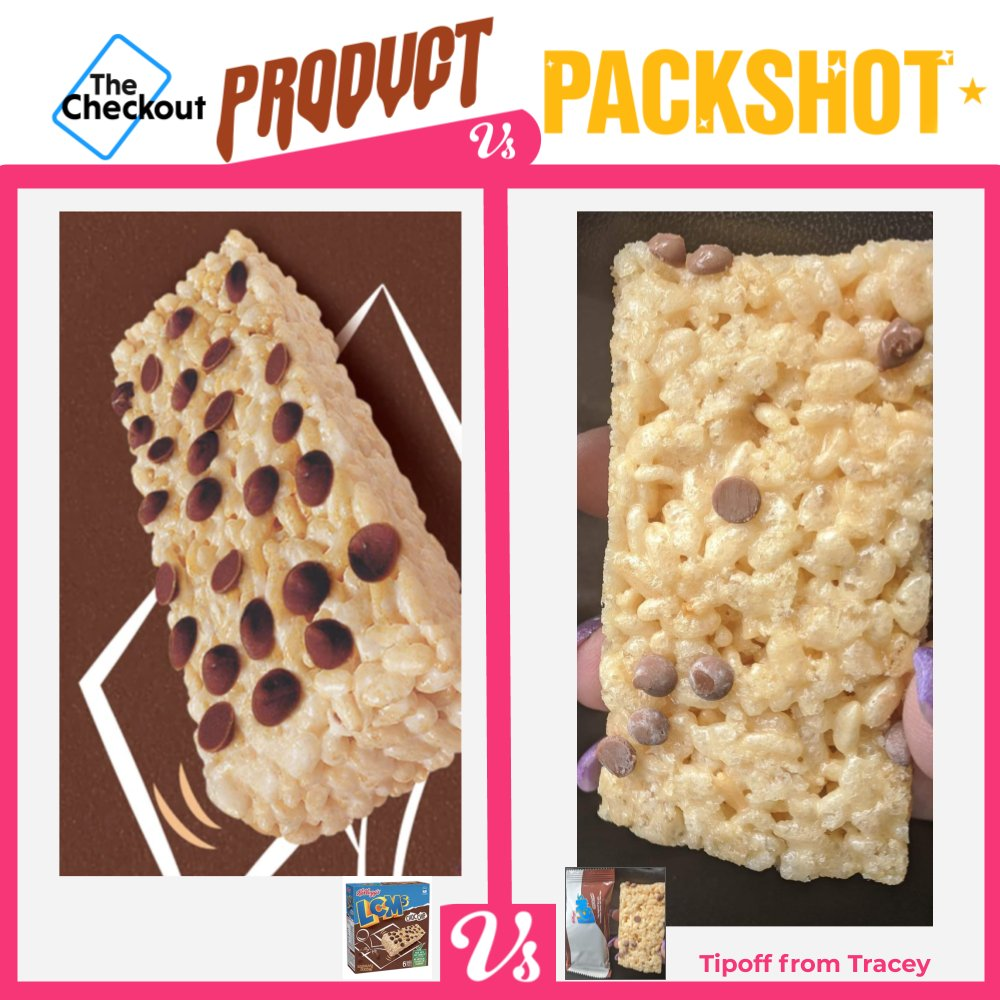 Choc Chip Spot the Difference courtesy of LCMs … thanks to a disappointed Tracey who sent this to tipoff@thecheckout.tv
