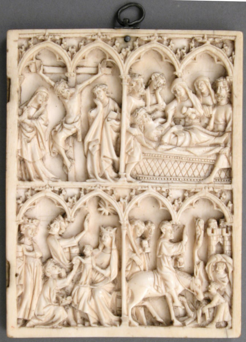 Right Wing of a Diptych  #MedievalArt #metmuseum