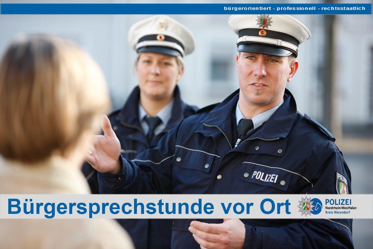 Zu Wochenmitte steht die #MobileWache heute in #Drensteinfurt-Walstedde. Am Prillbach auf dem Parkplatz des K&K-Marktes haben Sie die Gelegenheit mit Ihren #Bezirksdienstbeamten ins Gespräch zu kommen. Wir freuen uns auf Ihren Besuch. Ihre #PolizeiWarendorfpic.twitter.com/n3Z8X7u5PL