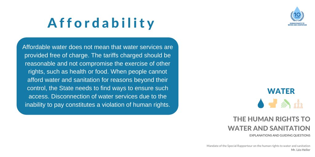 It is the state's responsibility to guarantee everyone access to affordable water - regardless of income.   #ClaimYourWaterRights https://t.co/sKVHy8z31K
