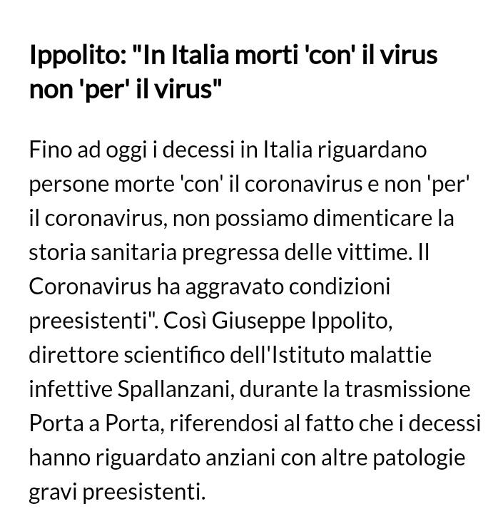 #Coronaviriusitalia