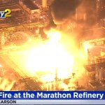Image for the Tweet beginning: #LIVE: Marathon Refinery in Carson