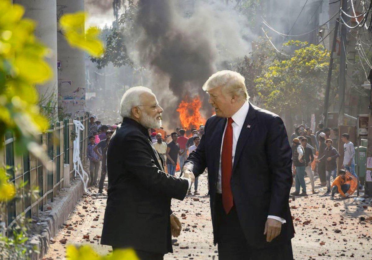 *Namaste Trump*  #DonaldTrump #GoBackTrump #DonaldTrumpIndiaVisitpic.twitter.com/52XJNU8PMo