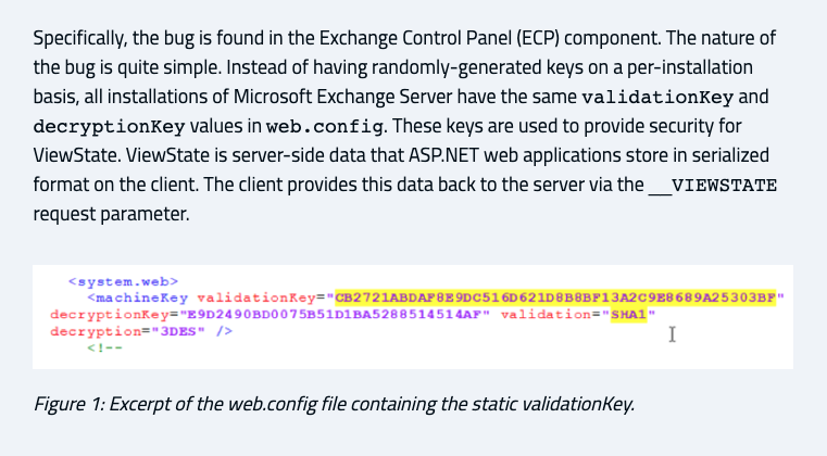 YARA rule to detect Exchange servers vulnerable to CVE-2020-0688Rulehttps://github.com/Neo23x0/signature-base/blob/master/yara/vul_cve_2020_0688.yar …Blog post by @thezdihttps://www.thezdi.com/blog/2020/2/24/cve-2020-0688-remote-code-execution-on-microsoft-exchange-server-through-fixed-cryptographic-keys …