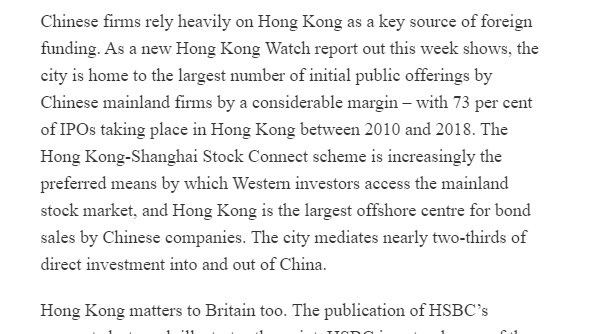 Tonight we launch our report on why HK matters at event w/ @gideonrachman and Malcolm RifkindSome of the arguments in @spectator today.👇 HK matters bc it is the only city in China w/ freedom of capital and information, autonomy and rule of law. https://blogs.spectator.co.uk/2020/02/what-the-coronavirus-outbreak-means-for-hong-kongs-fight-for-freedom/ …