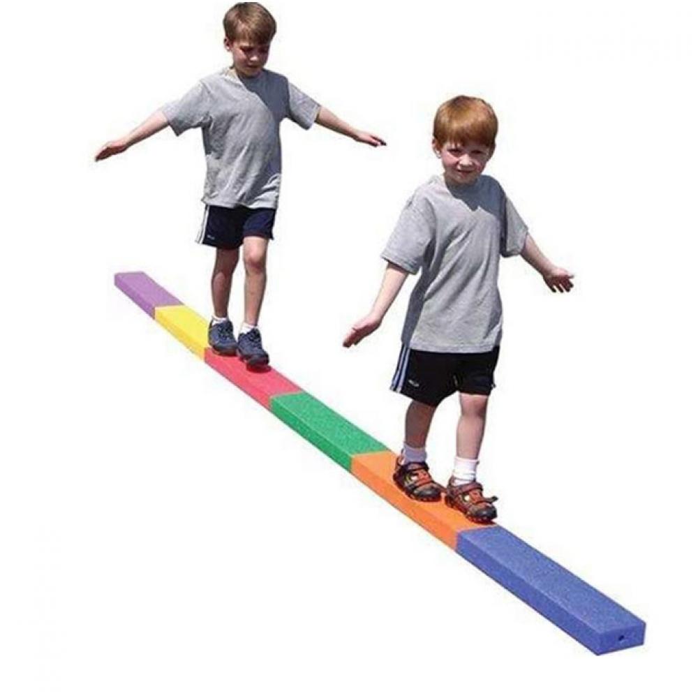 #pretty #adorable Kid's Colorful Foam Balancing Beams 6 pcs Set