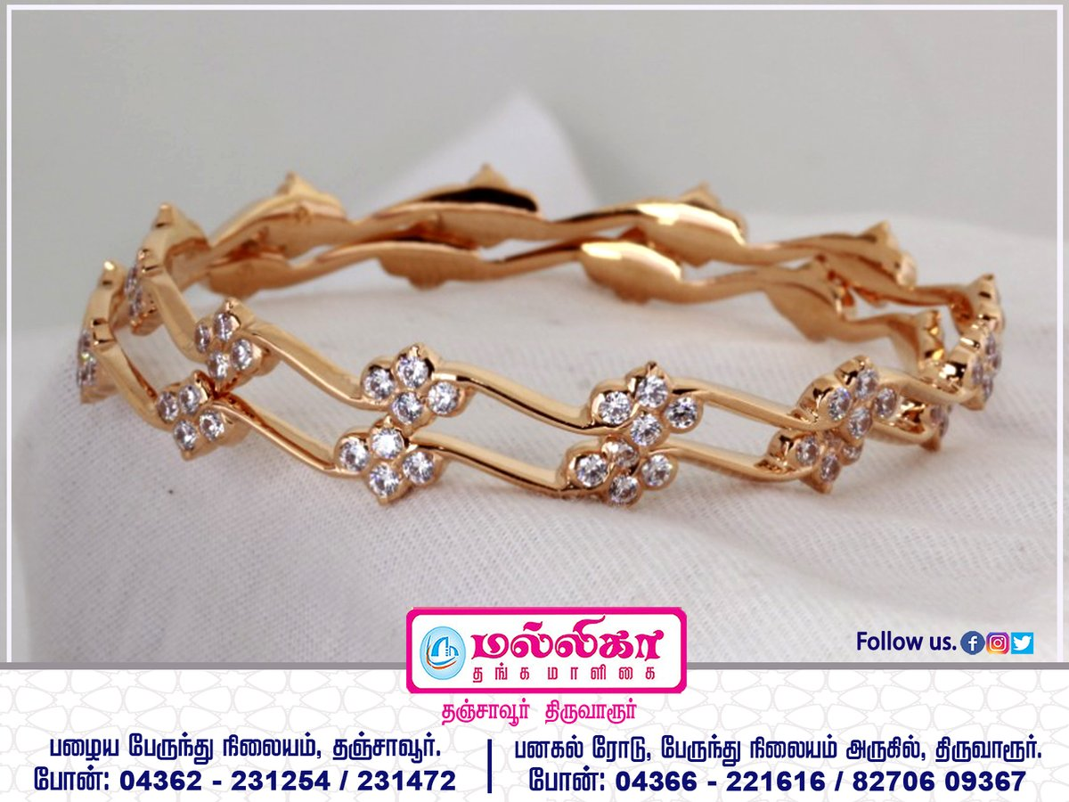 Beautifully embellished bangles to add to your wedding trousseau...  #916_KDM_Hallmark_Showroom #Mallika_Thanga_Maligai #Thanjavur #Thiruvarur  #jewellery #Gold #Diamond #Bangles #Necklaces #Rings #Harrams #Earrings #Anklet #Chains  jewellery Is A Way Of Keeping Memories Alive.pic.twitter.com/jbr21cjSmG