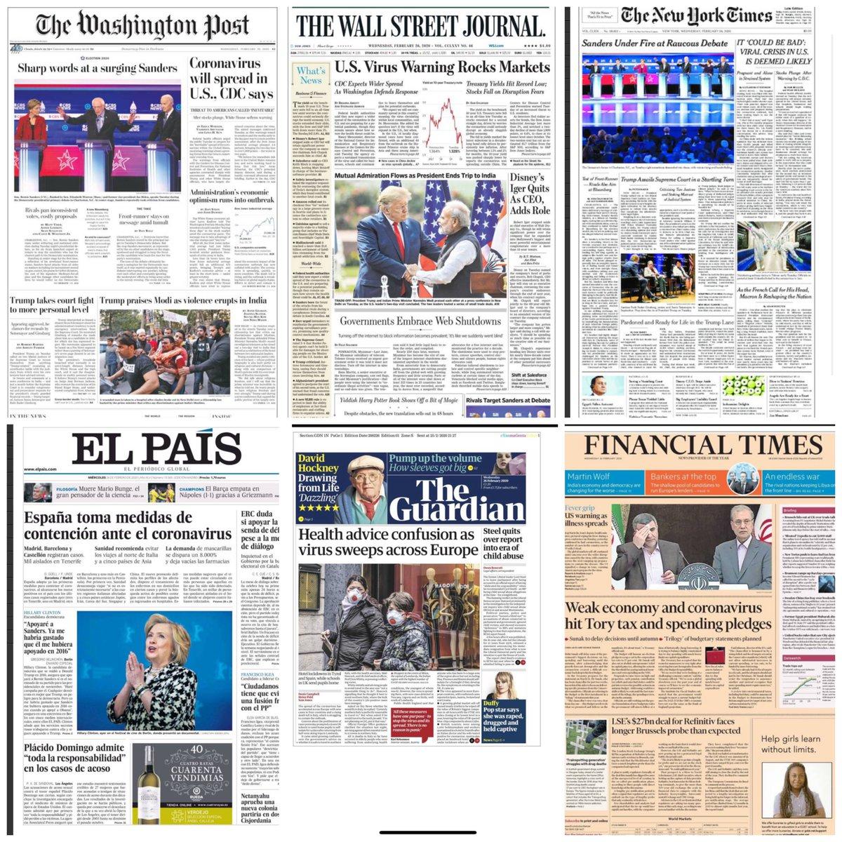 Los periódicos del mundo ⬇️