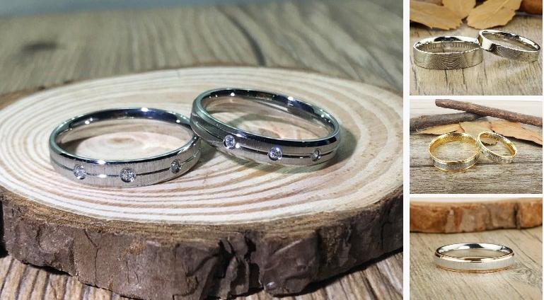 Hers and Hers Handmade Cubic Zirconia Matte #jewelry #ring @EtsyMktgTool  #weddingrings #weddingbands #titaniumrings