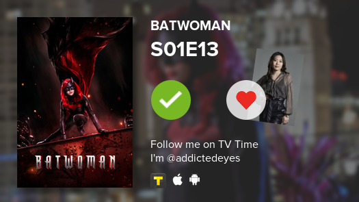 I've just watched episode S01E13 of Batwoman! #batwoman  #tvtime