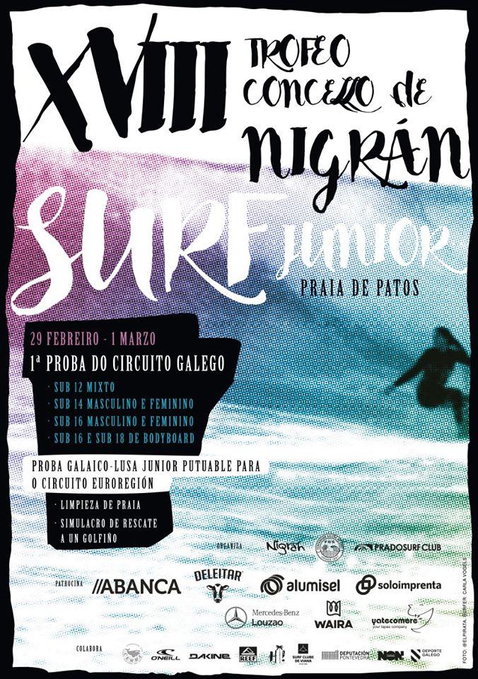 Aviso de convocatoria! Proba Junior 2020 en Patos  #surfing #riasbaixas