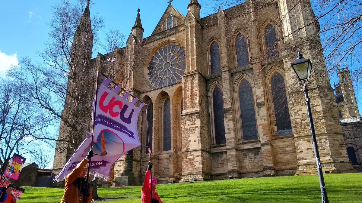 Passing by Durham cathedral #UCUStrikesBack #Durham #FourFights