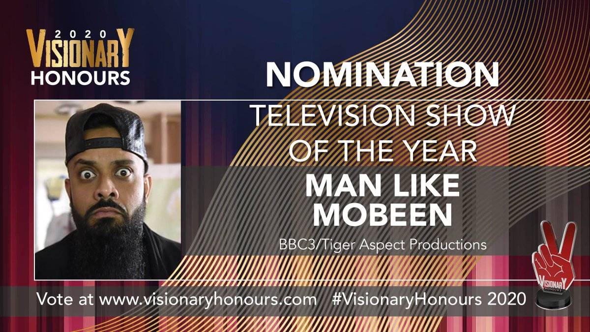 Man Like Mobeenhas been shortlisted for Best TV Show @VisionaryArtsUK Awards 2020 – well done to the team! Please vote at https://t.co/GuHDHMSEmb. #VisionaryHonours #manlikemobeen https://t.co/LoSwTODjXQ