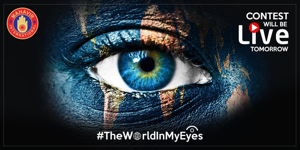 #ContestAlert Get ready to participate & win #TheWorldInMyEyes contest going live tomorrow.  #StayTuned! #Contest #Contests #Giveaway #IAmHopeForLight #MID #MahavirDelhi #NGO #HopeForLight #MahavirInternationalDelhi