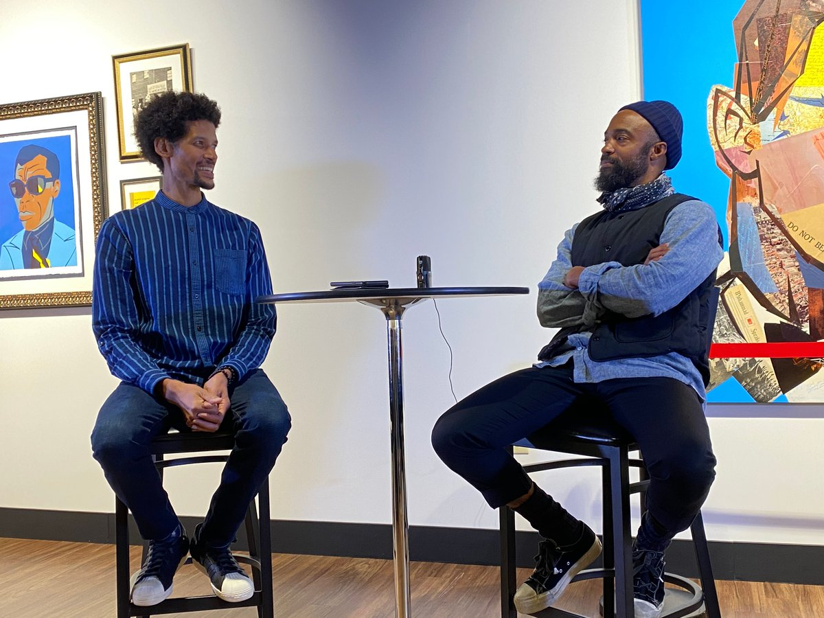 I've gotten to meet a lot of fascinating people during the campaign and two of my favorites are cinematographer Bradford Young #Selma and artist Imar Hutchins.pic.twitter.com/D0Evv5Hp1c