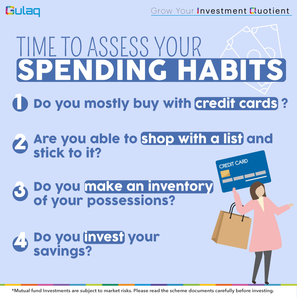 Time to assess your #SpendingHabits Let's help you! Sign Up Today: http://bit.ly/Gulaq-Register  . . . #Investment #financialplanning #InvestorAwareness #MutualFundsForMillennials #GulaqFintech #MutualFundsSahiHai #InvestingTips #InvestInYourself #OnlineInvestment #WhyGulaqpic.twitter.com/aqxrsgFmm3