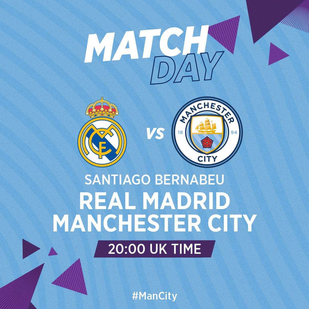 GET READY!  🆚 Real Madrid 🏆 @ChampionsLeague  🏟 Santiago Bernabeu ⏰ 20:00 UK  🔵 #ManCity https://t.co/ODOJHrPh8H