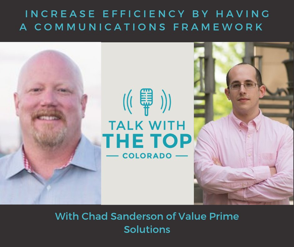 Establish a common language   Are you communicating effectively with your team?   In this episode of Talk with the Top: Colorado, I sat down with Chad Sanderson, Founder of Value Prime Solutions.  #B2Bcontentmarketing #podcasting  https://buff.ly/2Ym3zrhpic.twitter.com/PtUwIxdgAI
