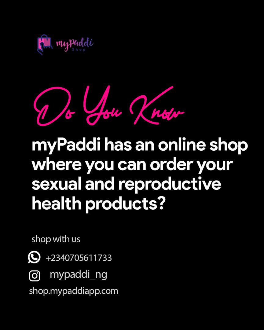 myPaddi has an online shop where you can order your sexual and reproductive health products. The best part is, we get to deliver to you discretely wherever you are #TachaXMyPaddi  A THREAD<br>http://pic.twitter.com/iJfrroFcWm