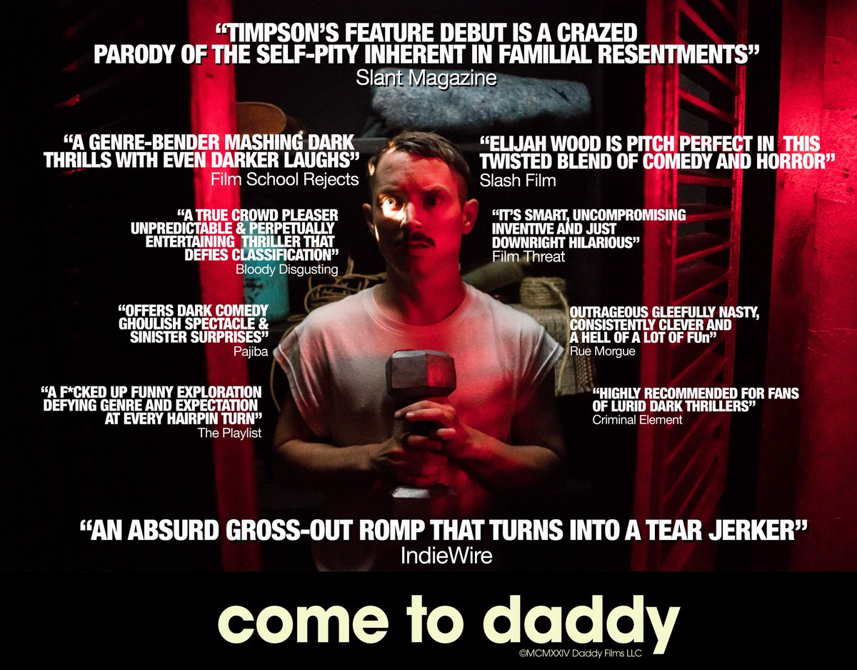 Come To Daddy ½ @Timpson scores big in his directorial debut w/ this dark comedy-horror that gets more messed up & out of control every other scene. #ElijahWood has proven himself over the last decade, taking on roles in the grossest & most unflinching of #horrors. pic.twitter.com/JdTSSOwJDk