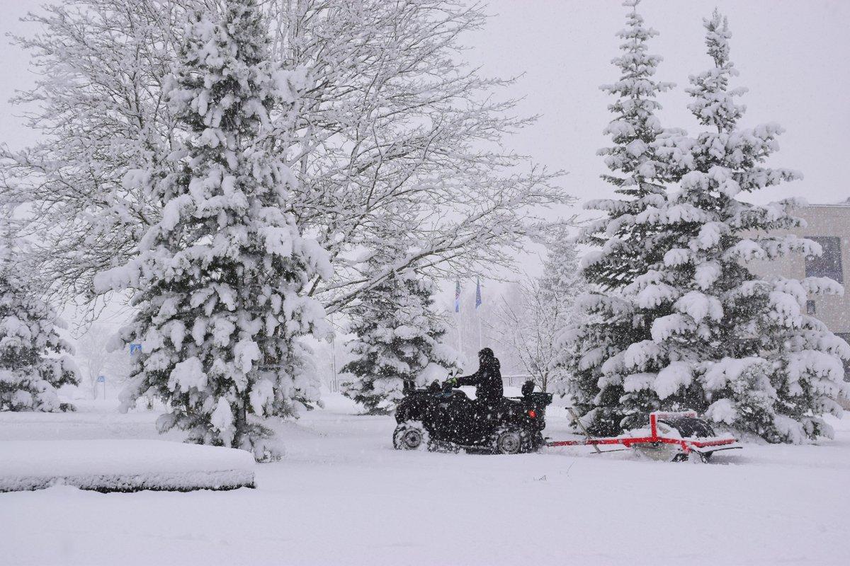 Snow in #Estonia ❄️