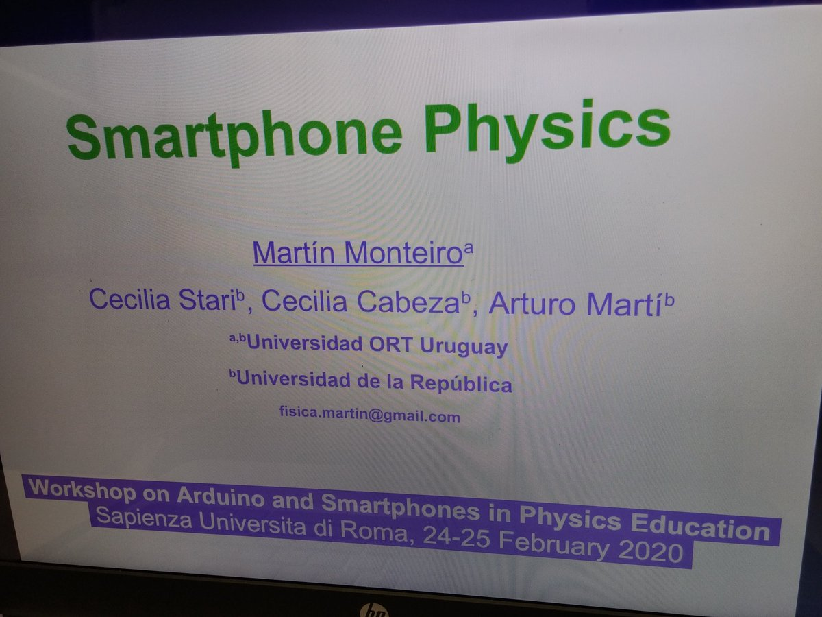 """Giving a talk about Smartphone Physics #SmarterPhysics, at the """"Workshop on Arduino and Smartphones in Physics Education"""", at Dipartimento di Fisica, ENRICO FERMI building, @SapienzaRomapic.twitter.com/wWoB7mxG9f"""