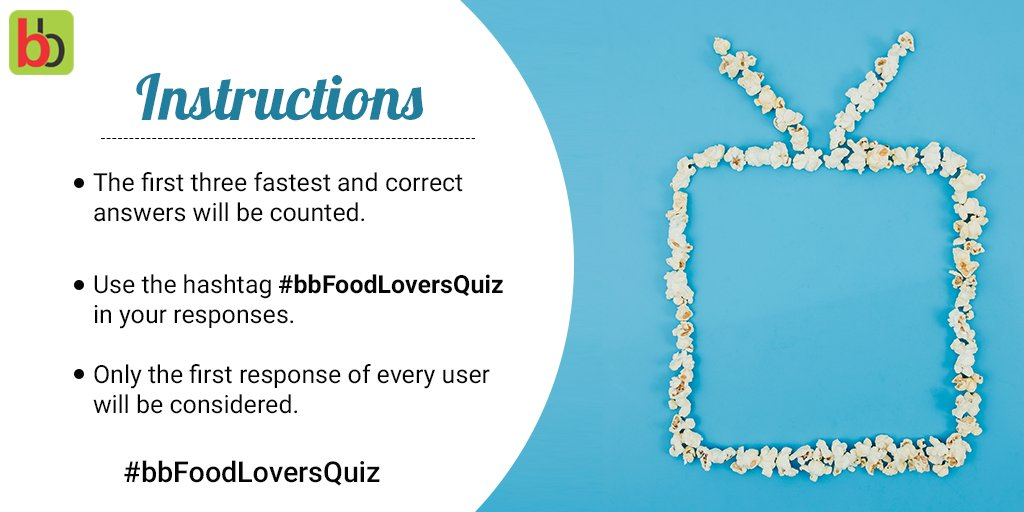 Are you guys ready? Only a few minutes to go for the #bbFoodLoversQuiz to begin. Tag your friends so that they can participate as well.  In the meantime, have a look at the instructions and stay tuned!  #bigbasket #Contest #ContestAlert #QuizTime @Contest_in @Contest_Hub