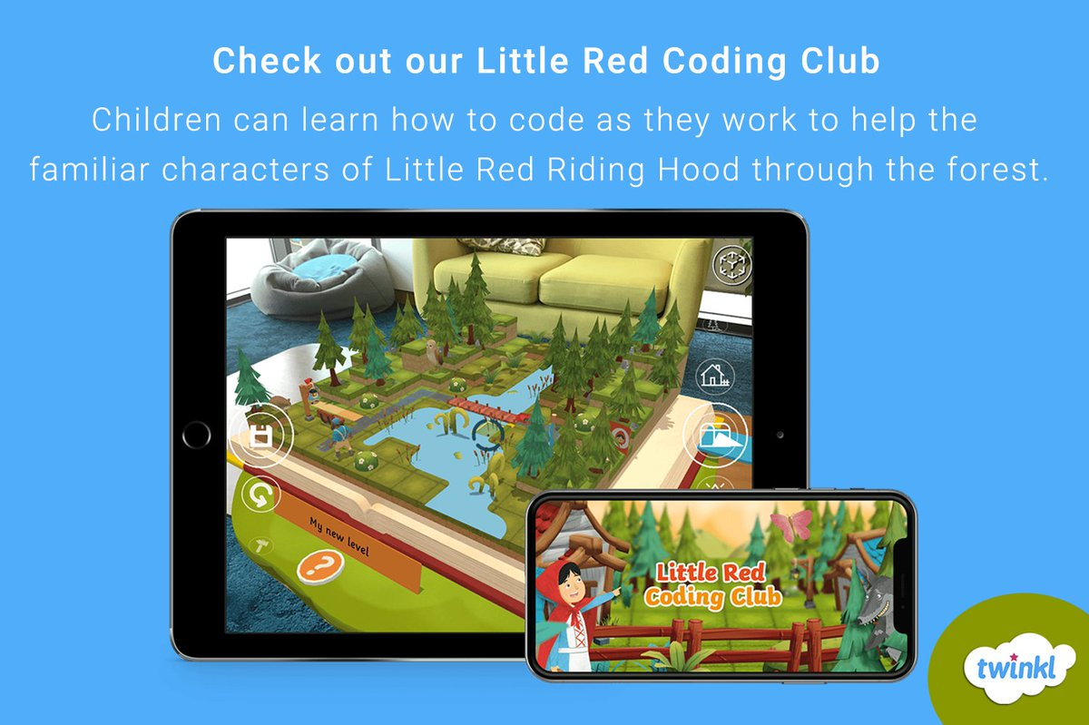 Are you teaching Coding in the classroom? Little Red Coding Club  teaches children to code and collaborate as they work together to help the familiar character of Little Red Riding Hood through the forest. https://www.twinkl.com/l/134rnk . #AR #Coding #learning #teachingpic.twitter.com/sGWW7cYuCK