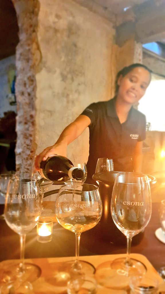 Cellar (nice and cool!!) citrus and chocolate pairing @esona_thevery1 Wines in Robetston - unique and very educational too #HeatherVisitsTheCapepic.twitter.com/NIq3Np21Ms – at Esona
