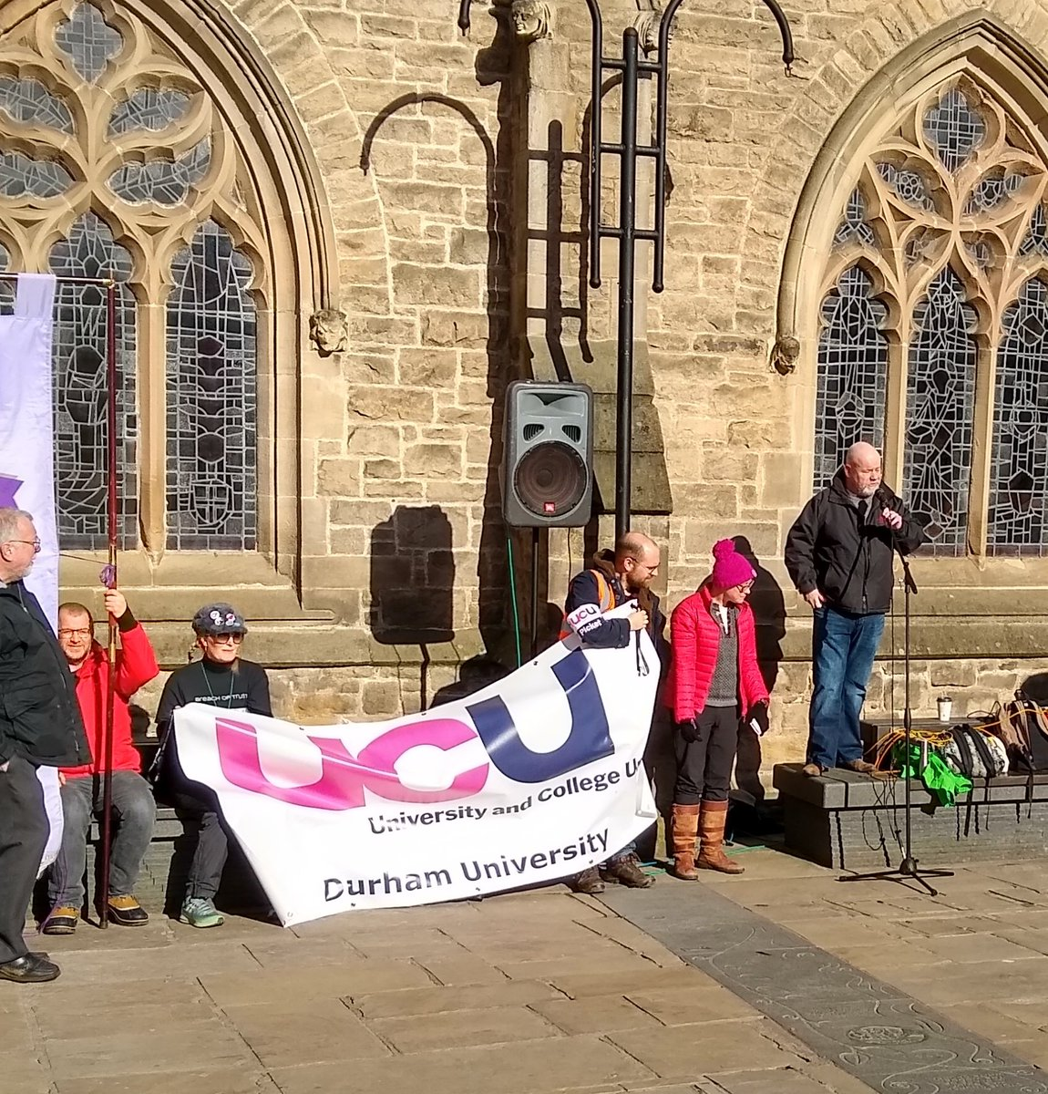 Great to have support from @CWUnews! Thank you for your solidarity, support, and inspiration! #UCUStrikesBack #Durham #FourFights @NewcastleUniUCU