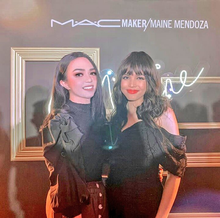 """First Filipina to collaborate TWICE with the international makeup brand, #MAC. Congrats #MaineMendoza! ...""  © mikkigalangdotcom #FirstPinayMACMakerMainepic.twitter.com/smUfI3nrul"