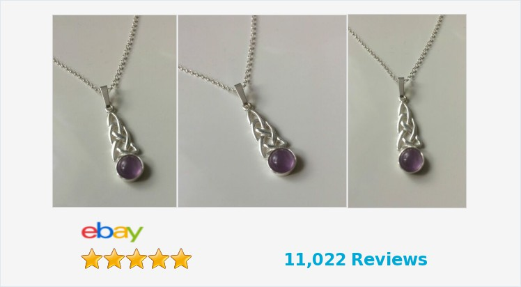 Brand New 925 Sterling Silver Celtic & 6mm round Amethyst Pendant Necklace | eBay #pendant #handmade #sterlingsilver #amethyst #celtic #necklace #gifts #giftideas #jewellery #giftsforher #pretty #jewelry #accessories #jewelrylover #ATSocialUK #gemstones