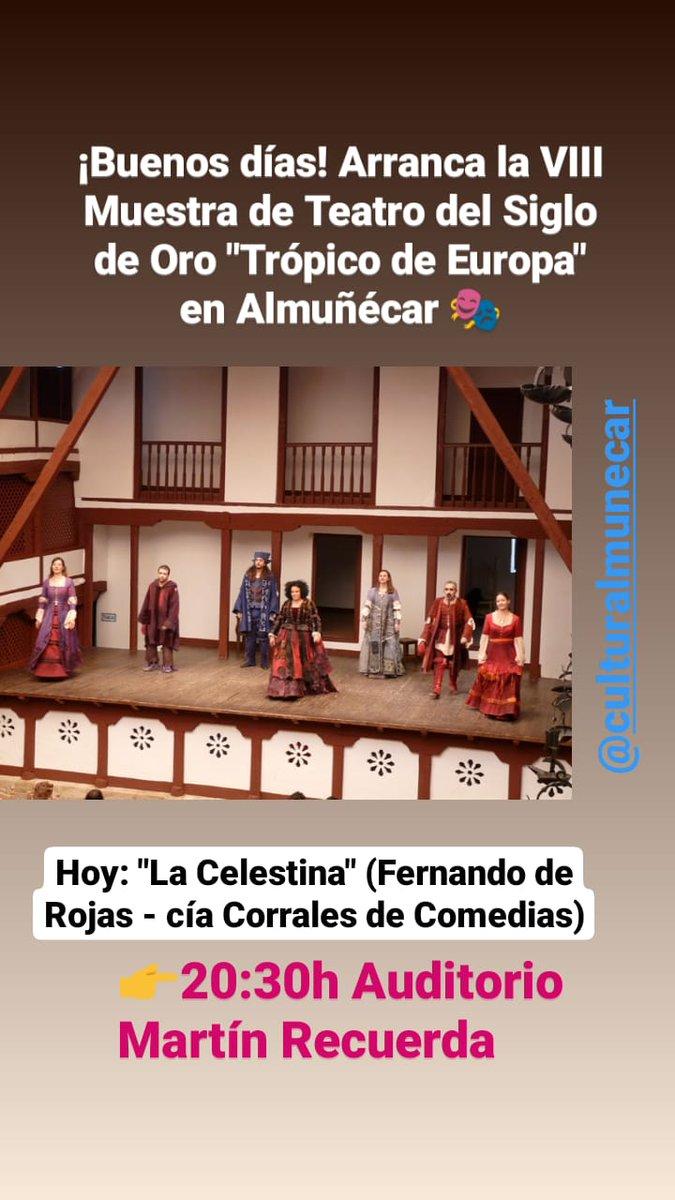 """¡Buenos días! Arranca la VIII Muestra de Teatro del Siglo de Oro """"Trópico de Europa"""" en Almuñécar http://www.costadigital.es/html/actualidad.php?id=17773…pic.twitter.com/lZz6Di3O7t"""