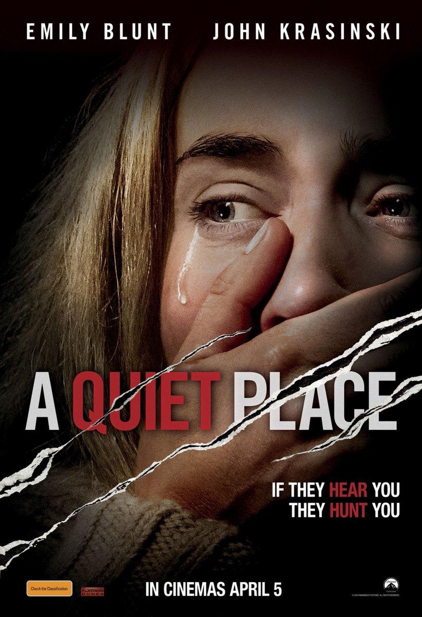 My #HorrorMovies collection  174. A Quiet Place (2018) Dir: John Krasinski  Starring: Emily Blunt, John Krasinski pic.twitter.com/LYHKmvjAHK