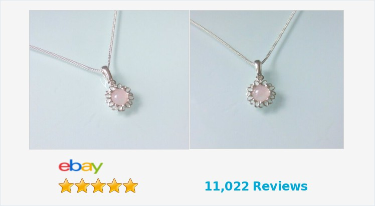 Brand New 925 Sterling Silver Dainty Daisy Necklace with Rose Quartz | eBay #pendant #handmade #sterlingsilver #daisy #rosequartz #pink #necklace #pretty #cute #jewellery #gifts #giftsforher #giftideas #jewelry #accessories #beauty #jewelrylover #ebayUK
