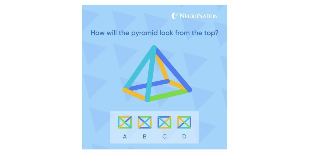 Is it A, B, C or D?  #mathgames #brainteasers #BrainGames #brainfood #braingym #braintraining #logicalthinking #reasoning #quiz #quizoftheday #focus #focused #NeuroNation #trainyoubrain #appgame #appgames #mentalhealth #mentalhealthawareness #digitalhealthOD