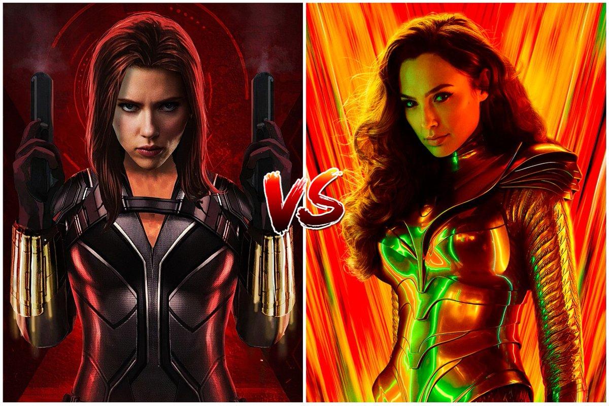 ¡Qué comience la batalla!   ¿Qué película creéis que será mejor?   RT  - #BlackWidow MG  - #WonderWoman1984 pic.twitter.com/sXu5uQk0iV