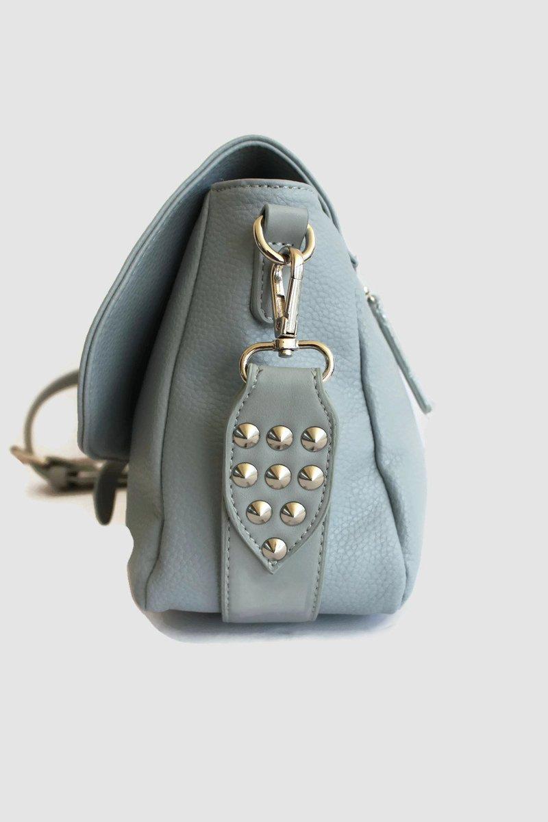 Excited to share the latest addition to my #etsy shop: Light blue tote bag with zipper, Light blue crossbody bag, studded messenger bag , Evening shoulder bag  #bagsandpurses #blue #anniversary #christmas #white #totepurse #leathertotebag #toteba