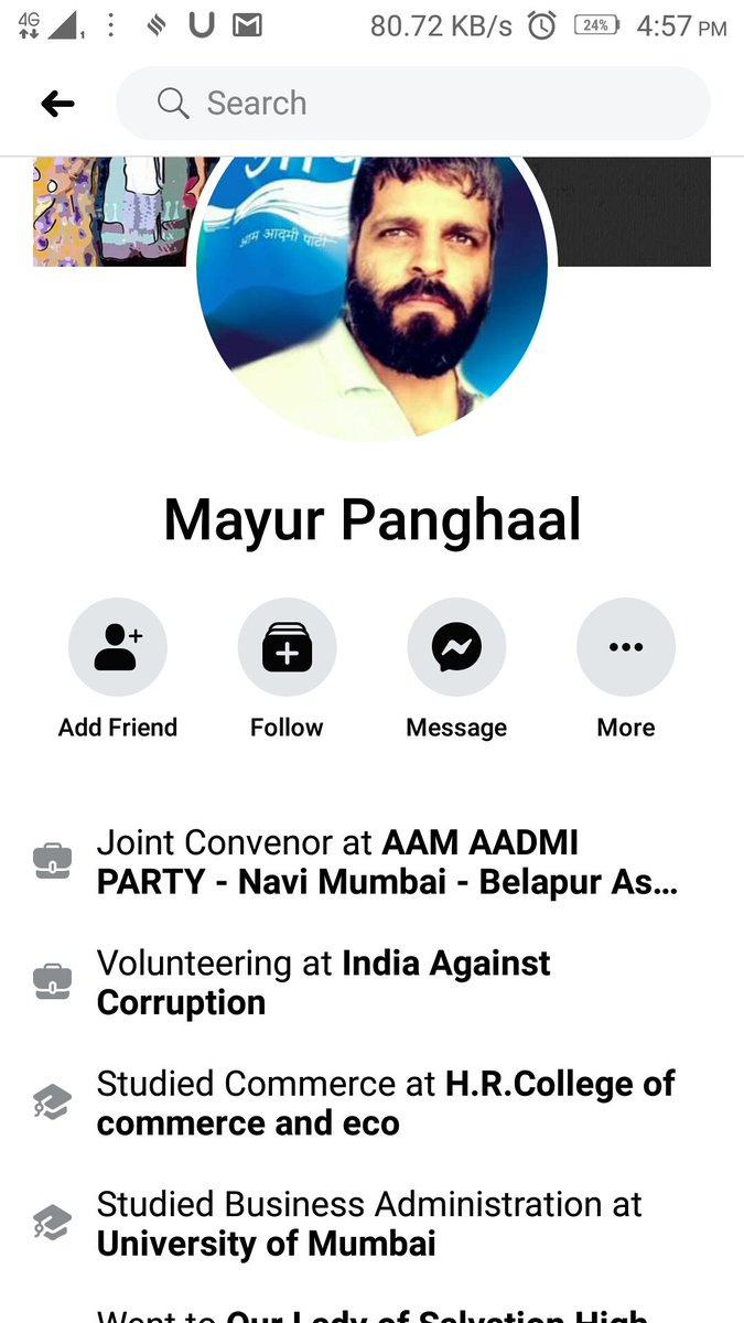 "AAP CONVENOR, MAYUR PANGHAAL, calls the brave officer #MartyrAnkitSharma as ""Thulla"". He is happy over the lynching of Ankit Sharma.Remember @ArvindKejriwal has always called People officer as Thullas."