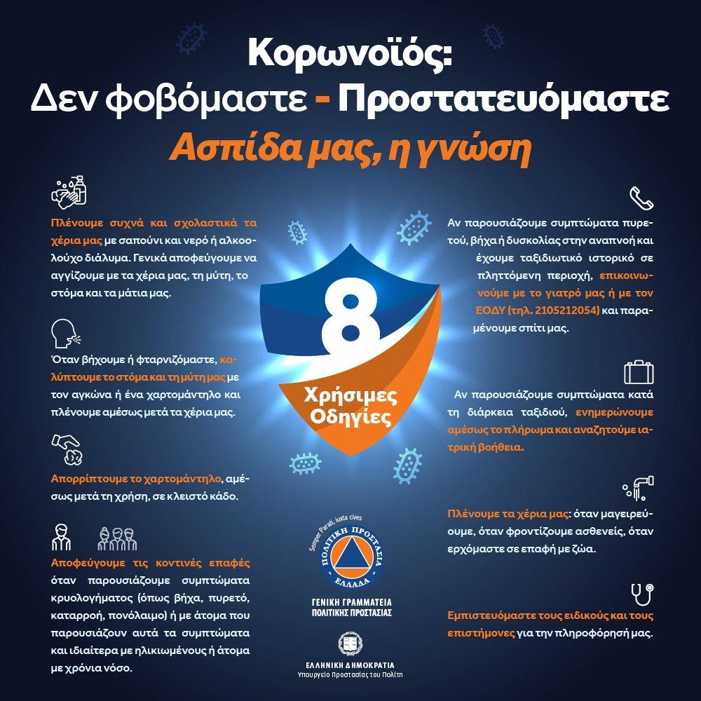Κορωνοϊός - Ενημερωτική καμπάνια από τη @GSCP_GR:    Δεν φοβόμαστε ❌ - Προστατευόμαστε ✅ Ασπίδα μας, η γνώση‼ #coronavirus #handshygiene @YpYgGR @eody_gr  Δείτε χρήσιμες οδηγίες αυτοπροστασίας ⤵