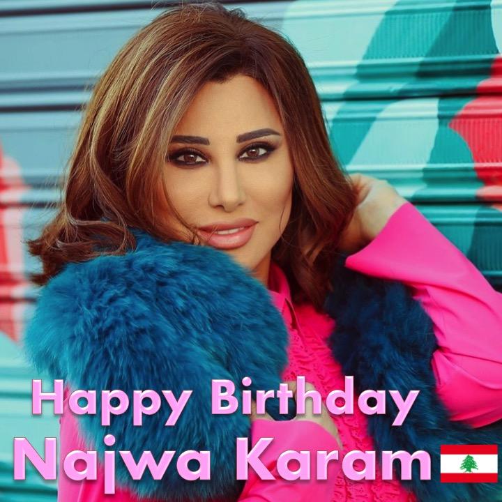 Happy Birthday to the beautiful Lebanese Multi-Platinum Singer #NajwaKaram! 🎹🎂🍾💐🎁🎉🎇🌟 @najwakaram