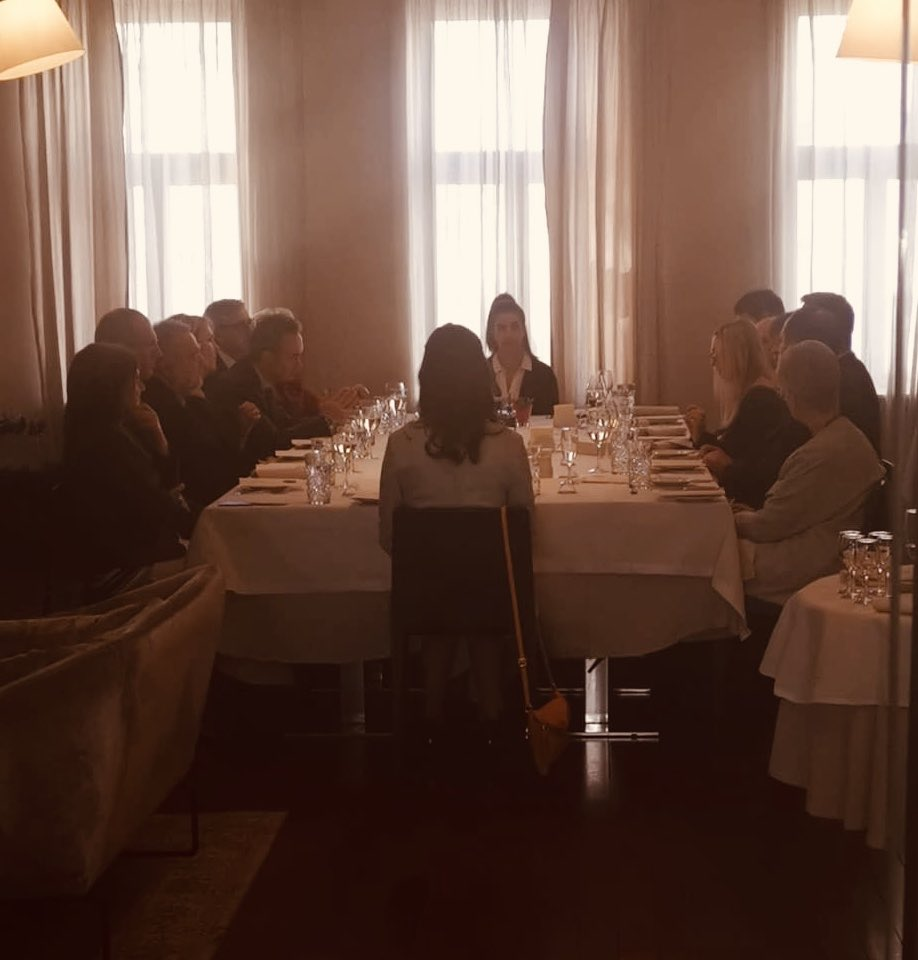 It was a pleasure to host a lunch today with fellow Ambassadors of Western Balkans, Croatia, Slovenia, Poland, United Kingdom, Italy, Austria, Germany and representatives of @MFABulgaria of Bulgaria to talk about #BerlinProcess and #EUintegration. #StrongerTogetherpic.twitter.com/aXW5C5tWgb