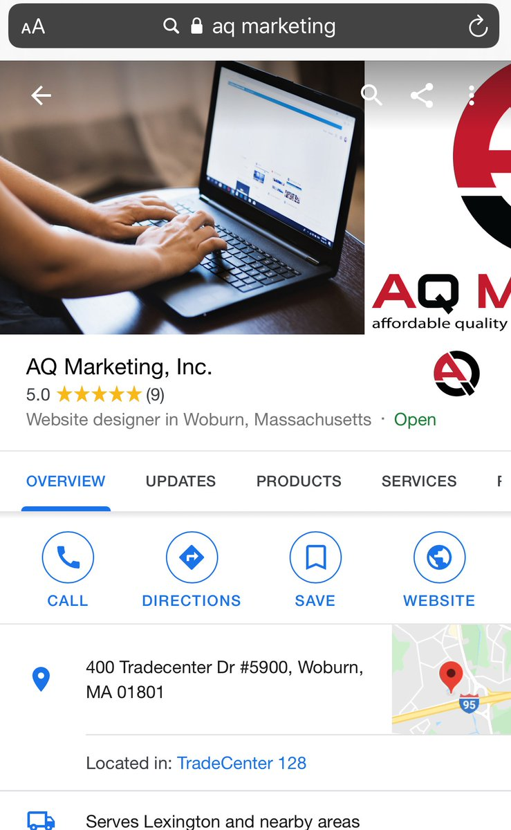 """Google My Business offers a """"Click to call"""" feature that you can use on your listing and posts. Utilizing this feature allows users to simply click a button to call you rather than having to try to write down the number. Contact us to learn more! (781) 937-3531 pic.twitter.com/VdkmeMeBI1"""