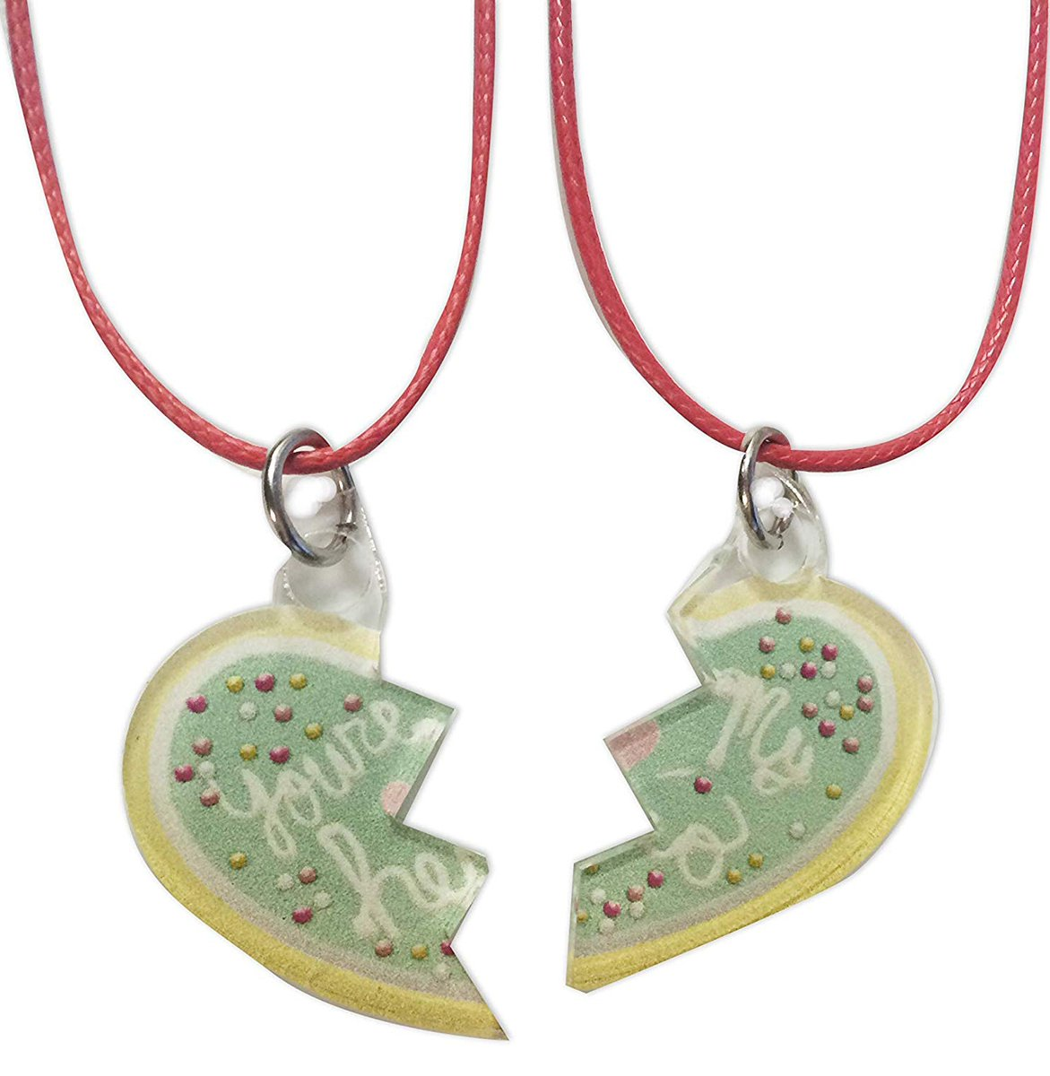 Share a special keepsake with YOUR hero using our You're My Hero Cookie Pendent Set!    #art #pendant #gift #gifts #pendants #design #jewelry #necklace #style #love #accessories #movie #sweet #wreckitralph #set #vanellope  #vanellopevonschweetz #sugarrush
