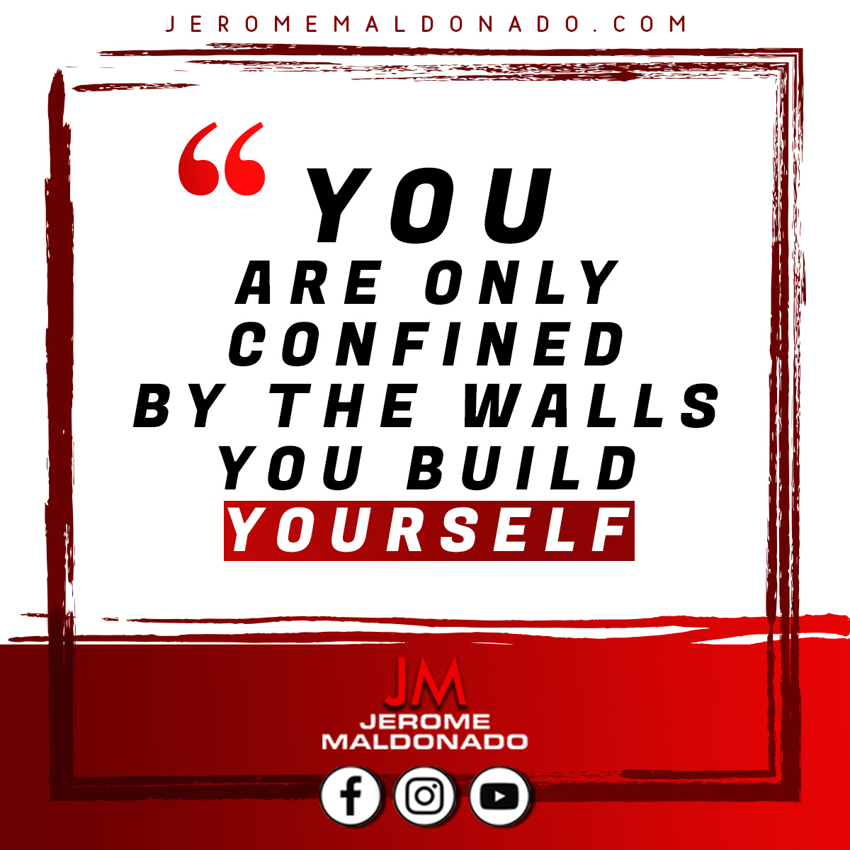 If you want to be successful, there's literally nothing stopping you aside from the walls you've built for yourself. So if there's something you want to change…Go grab your hammer.   #motivation #quoteoftheday #realestate