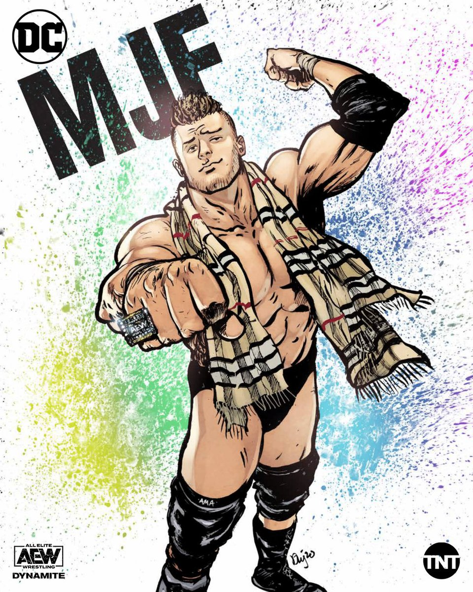 He's better than you and he knows it 💍 Grab one of these @DCComics x @AEWrestling x @The_MJF posters at @c2e2 this weekend!