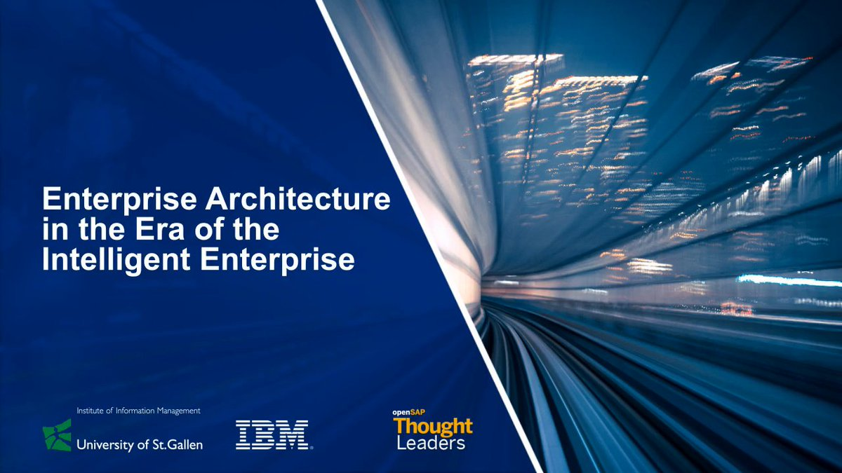 Enterprise architecture is a key enabler in making the #IntelligentEnterprise a success.  Learn how #AI can make it more open and agile in the free @openSAP course: http://sap.to/60101mkf4